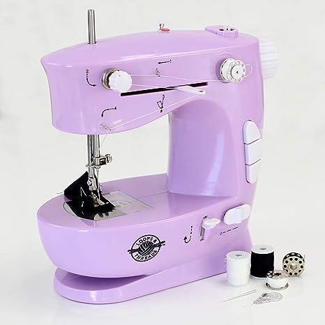 Loops & Threads - Máquina de coser (10 piezas), color morado ...