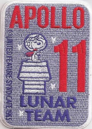Apollo 11 Lunar NASA Snoopy Syndicate Spacestation Uniform Aufn/äher Patch Badge