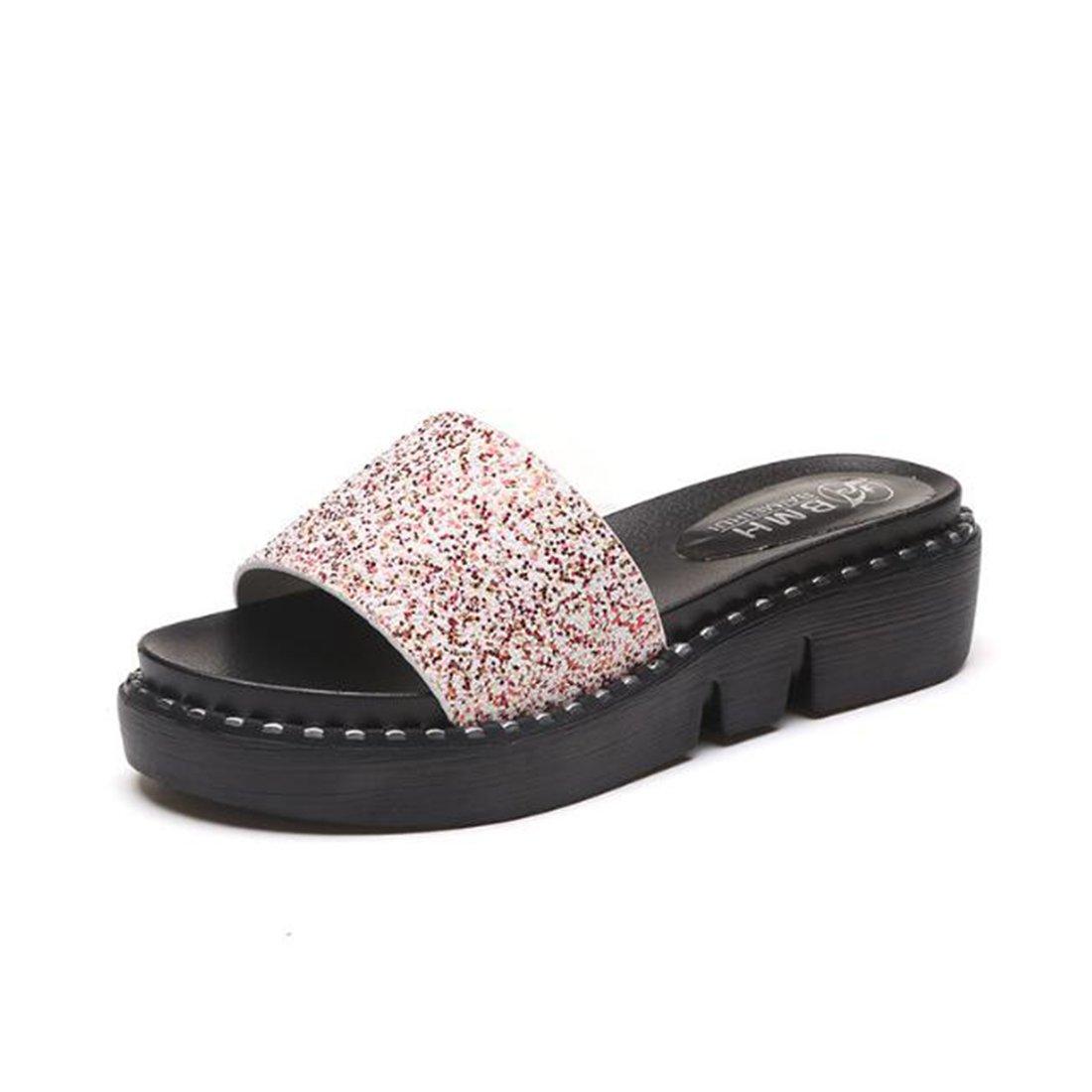 ZHONGST Womens Summer Sandalen Fashion Dick-Sohle Sandalen Sandalen Und Hausschuhe Sandalen Mit Hohen Absauml;tzen  37|Pink
