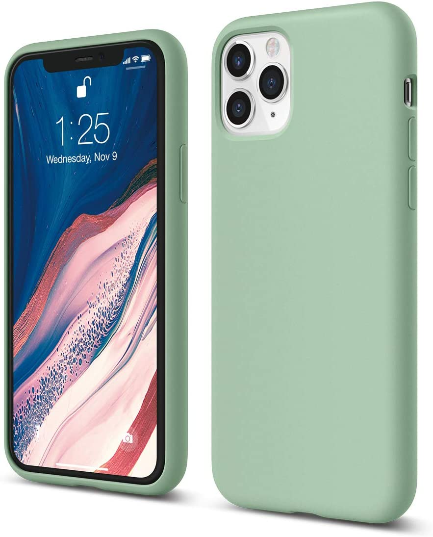 """elago Coque iPhone 11 Pro Silicone Compatible avec iPhone 11 Pro (5.8"""") Silicone Liquide, Doublure en Microfibre Douce, Raised Lip pour Écran &"""