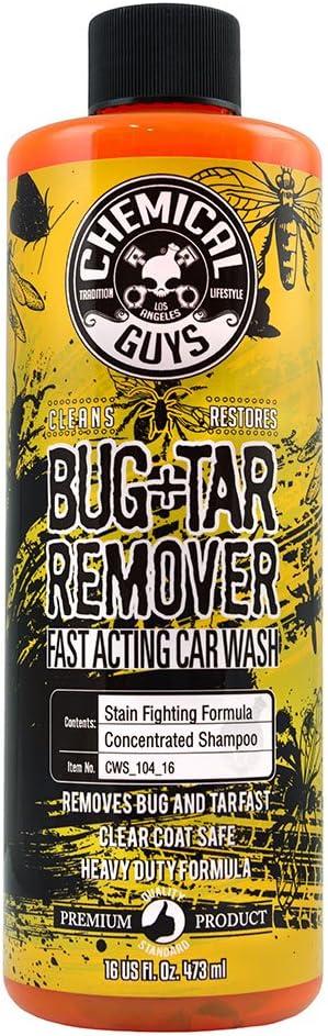 Amazon.com: Chemical Guys CWS_104_16 Bug & Tar Heavy Duty Car Wash Shampoo (16 oz): Automotive