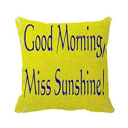Amazon.com: Goodaily Pillowcase Good Morning Sunshine Quotes ...