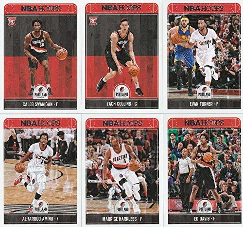 2017-18 Panini NBA Hoops Portland Trail Blazers Team Set of 11 Cards in a 4-Pocket Notebook: Damian Lillard(#226), C.J. McCollum(#227), Jusuf Nurkic(#228), Shabazz Napier(#229), Evan Turner(#231), Al-Farouq Aminu(#232), Maurice Harkless(#233), Ed Davis(#234), Noah Vonleh(#235), Zach Collins(#260), Caleb Swanigan(#276)