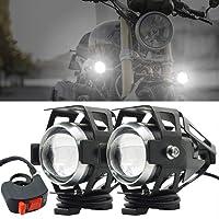 Biqing Faros delanteros para motocicleta,Cree U5 faros auxiliares