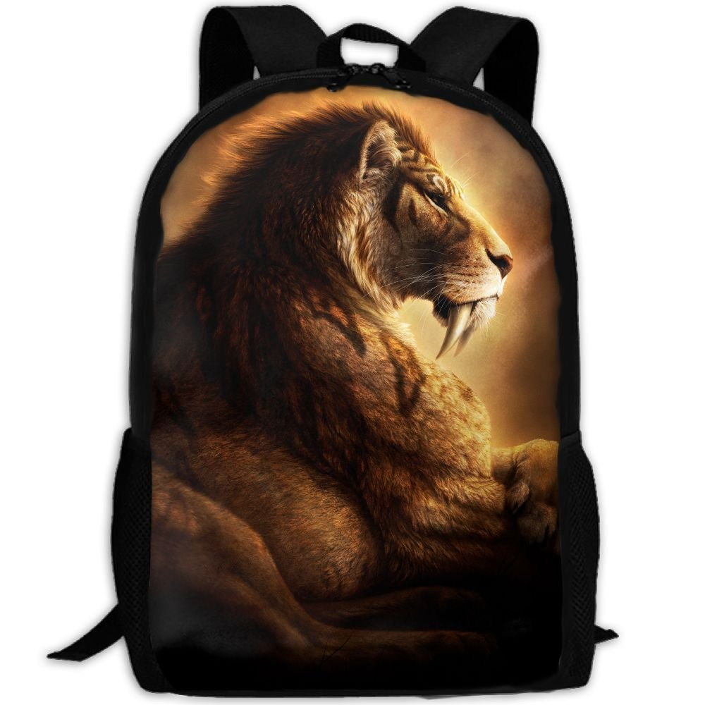 OIlXKV Canine Tooth Fangs Ancient Animals Print Custom Casual School Bag Backpack Multipurpose Travel Daypack For Adult