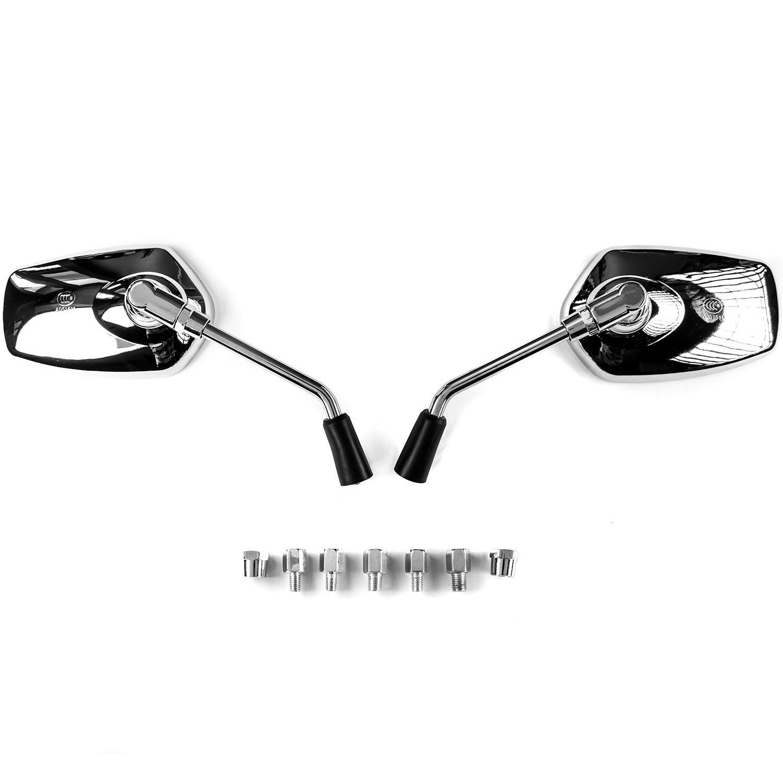 Krator Universal Chrome Motorcycle Mirrors for Suzuki Intruder Volusia VS 700 750 800 1400 1500
