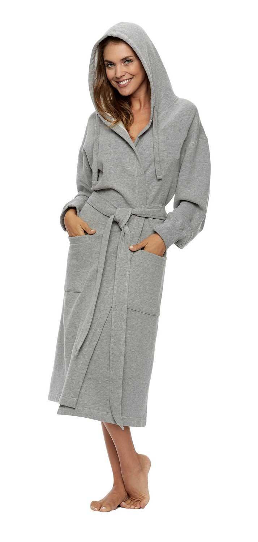 Unisex Sweatshirt Hoodie Hooded Robe, Heather Gray, L/XL (OSFM)