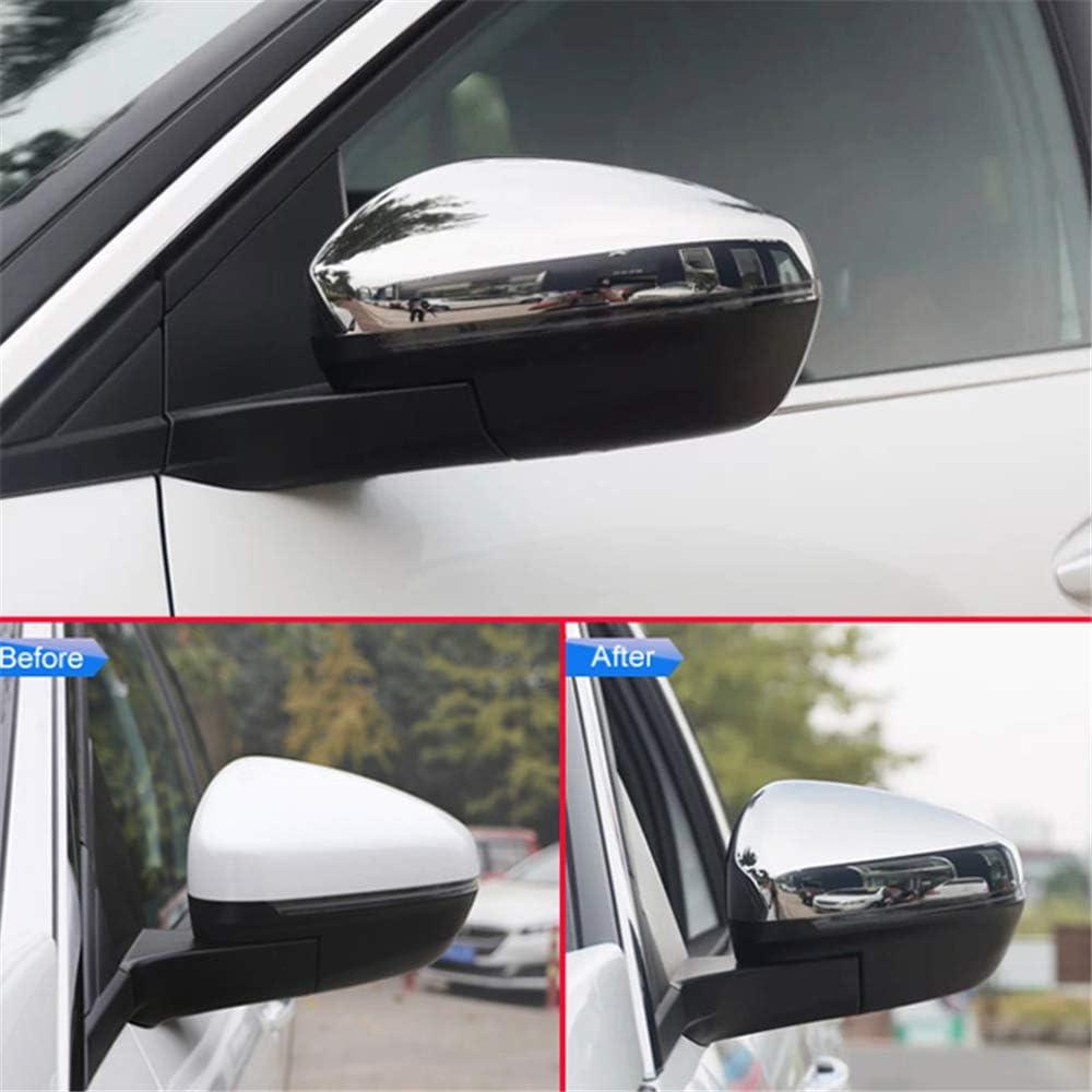 f/ür Peugeot 3008 5008 2017 2018 BANIKOP R/ückansicht R/ückansicht Overlay Chrom Car Styling Seitenspiegel Glossy Pairs Cover Zubeh/ör