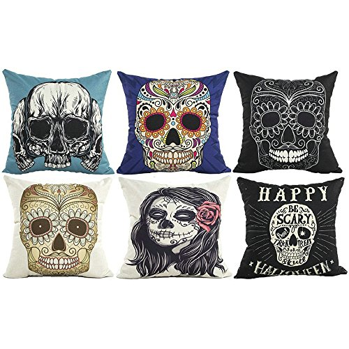 Valentine's Day Skull Cushion Cover Throw Pillow Case Protec