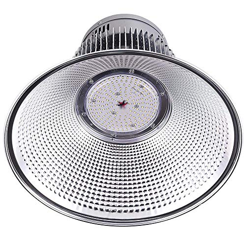 DELight 2Pcs 150W 18 LED High Bay Light 16000lm 6000K-6500K with Heat Sink Factory Industry Lighting Feature