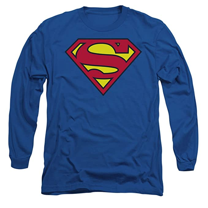 b297e878cf75 Image Unavailable. Image not available for. Color  Long Sleeve  Superman-Classic  Logo Longsleeve Shirt ...