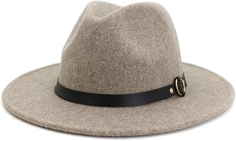 HUDANHUWEI Wool Fedora Hat...
