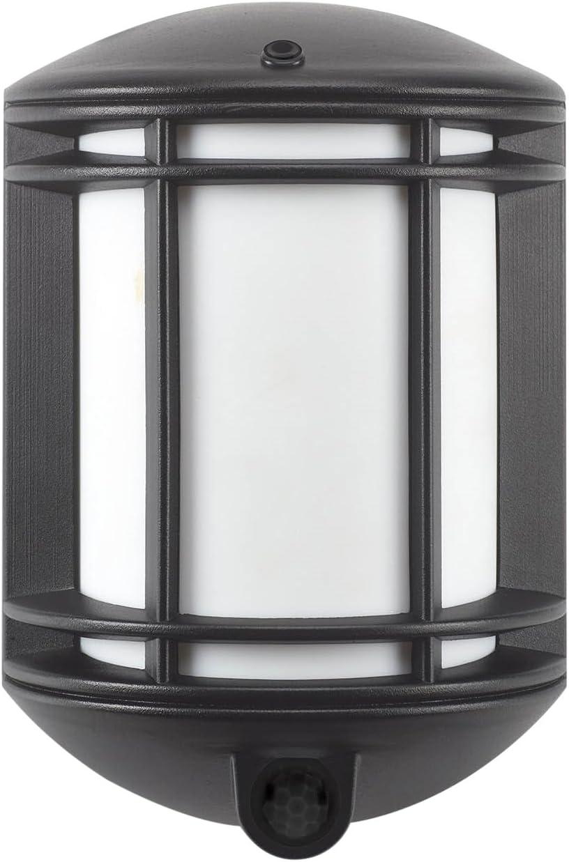 It s Exciting Lighting IEL-1300 Cambridge Battery Powered Motion Sensor LED Security Light, Black Finish