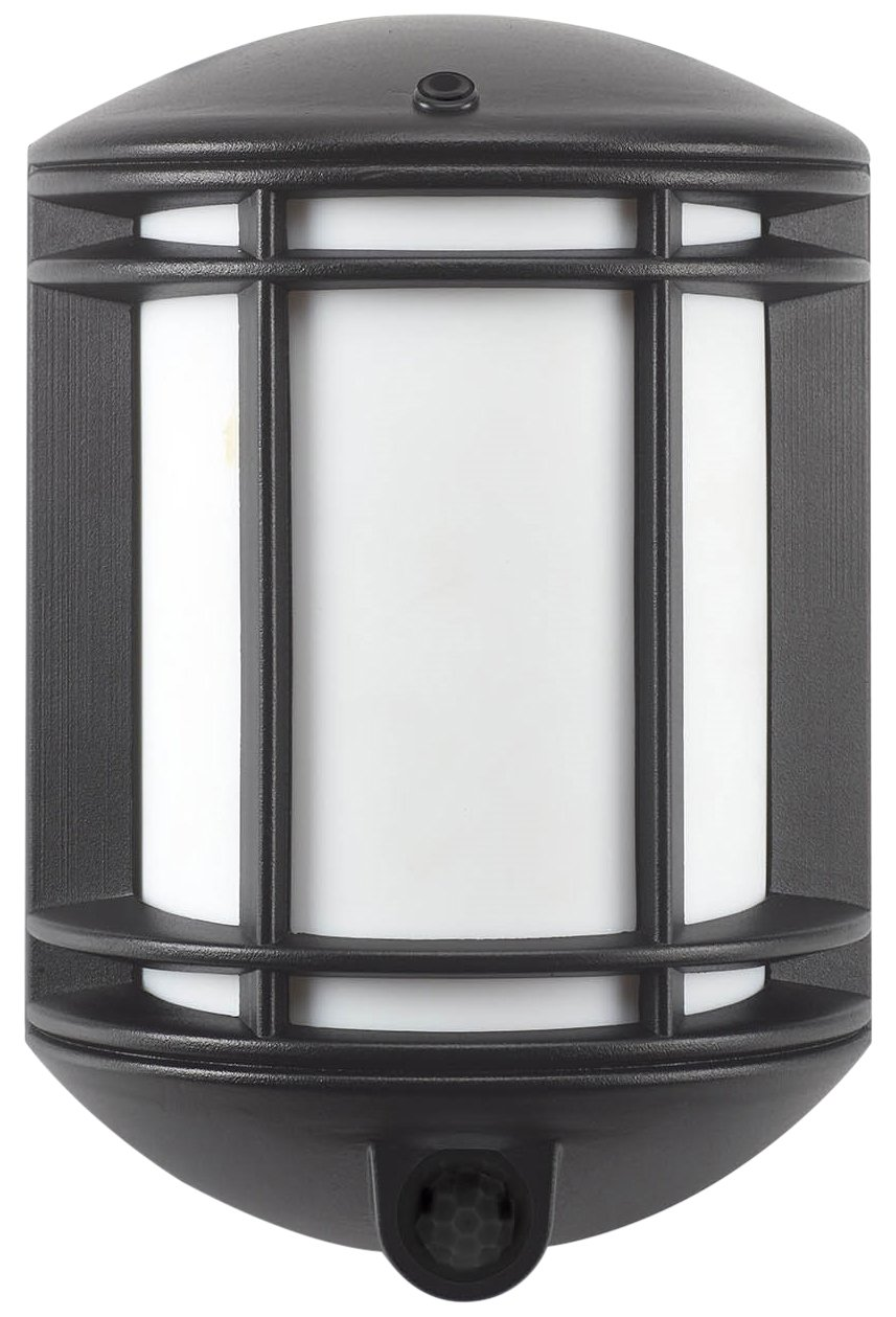 Its Exciting Lighting IEL-1300 Cambridge Battery Powered Motion Sensor LED Security Light Black Finish