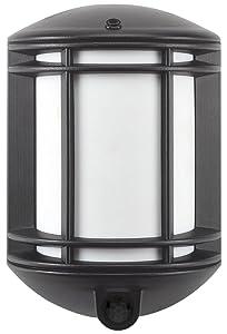 It's Exciting Lighting IEL-1300 Cambridge Battery Powered Motion Sensor LED Security Light, Black Finish