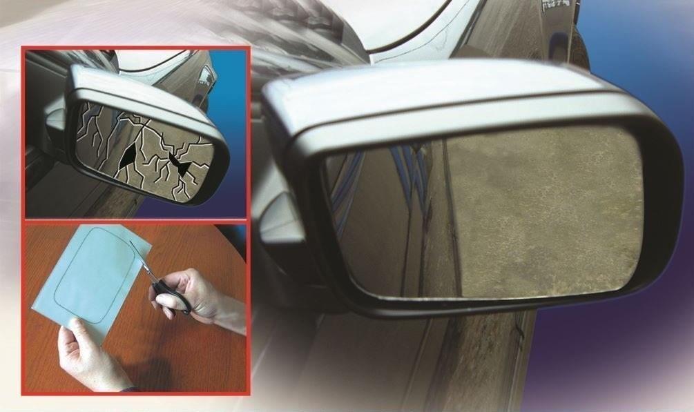 10 X 7 Easy Mirror Repair Kit Car Wing Mirror Glass Fix Self