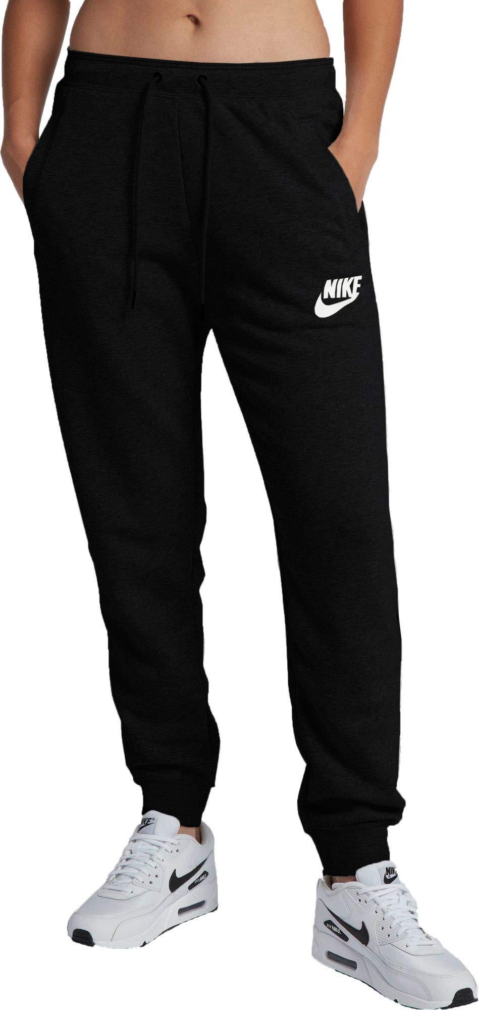 Nike Women's Sportswear Rally Loose Fit Sweatpants (Black Heather/Black, X-Small)