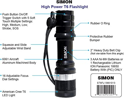Tactical Flashlight used by Law Enforcemen