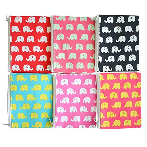 6 Pcs. Elephant Themed Coin Pouch Change Purse Bag Party Favors for Birthday Wedding Baby Shower