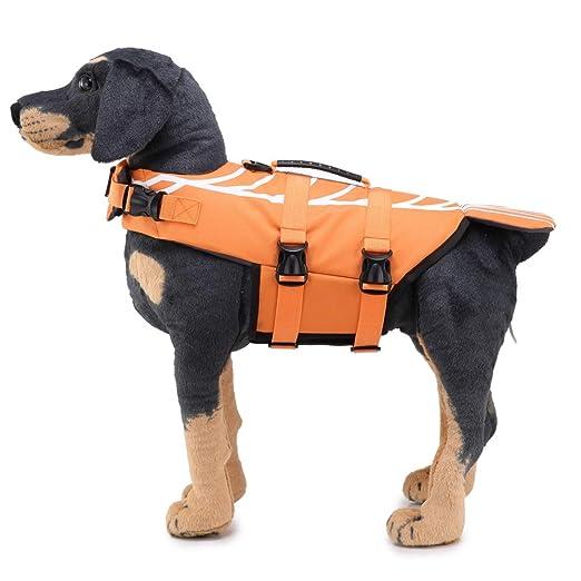 HKHJN Ripstop Dog Life Jacket Coat Seguridad para Mascotas ...
