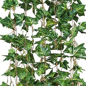 Eastern Fashional Life English Ivy Silk Greenery Wedding Party Garlands(40 Feet) 1