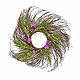 Worth Imports 26'' Twig Wreath with Faux Grass & Wildflower