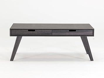Amazon De Caiden Grosser Tisch Couchtisch Schublade Grau Holz