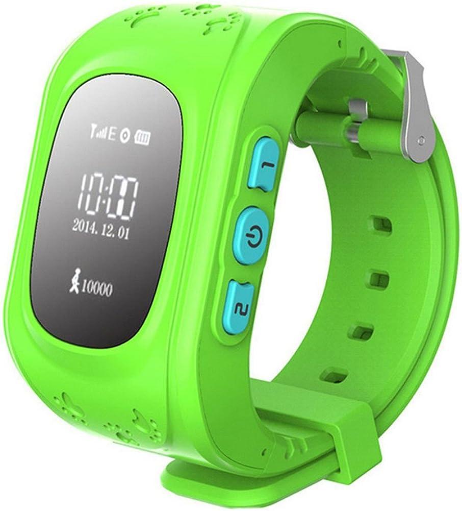 Rosepoem Niños GPS Tracker Smartwatch Reloj Inteligente para niños Anti-Lost Sos Sim Card Watch Control de Padres por teléfono Inteligente Q50 Reloj Inteligente Ubicación del Reloj rastreador