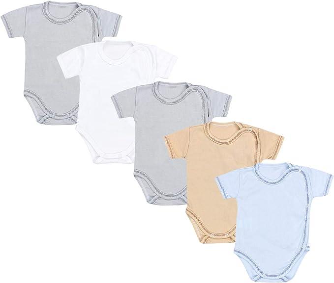 TupTam Baby M/ädchen Kurzarm Wickelbody Baumwolle 5er Set