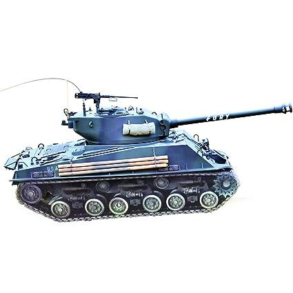 Amazon com: HOOBEN 1:10 U S  Fury M4A3E8 Sherman Medium Tank