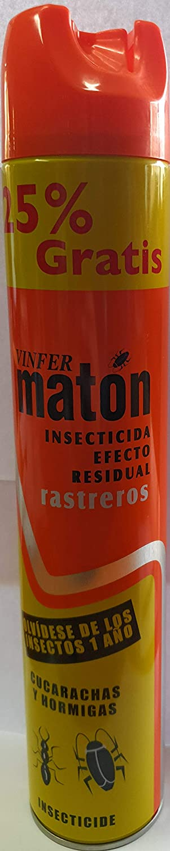 Vinfer maton insecticida efecto residual rastreros