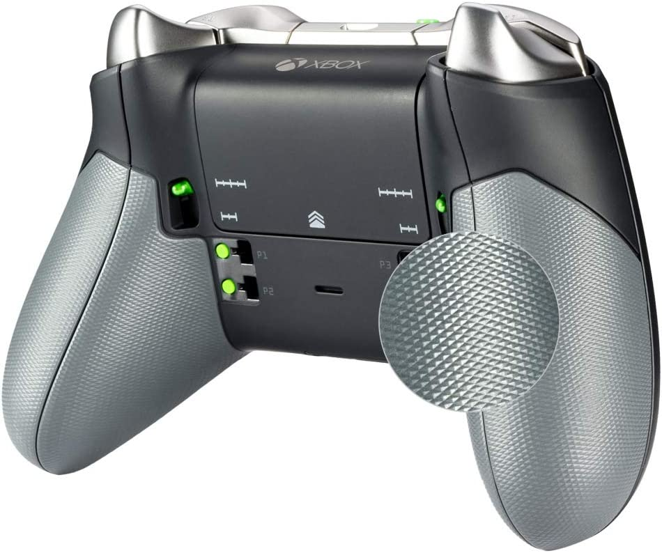 eXtremeRate Agarre de Goma para Xbox One Elite Asa Izquierda Derecha Empuñadura Antideslizante Grip Tacto Suave Mango de reemplazo Kit para Mando de Xbox One Elite Modelo 1698(Gris): Amazon.es: Electrónica