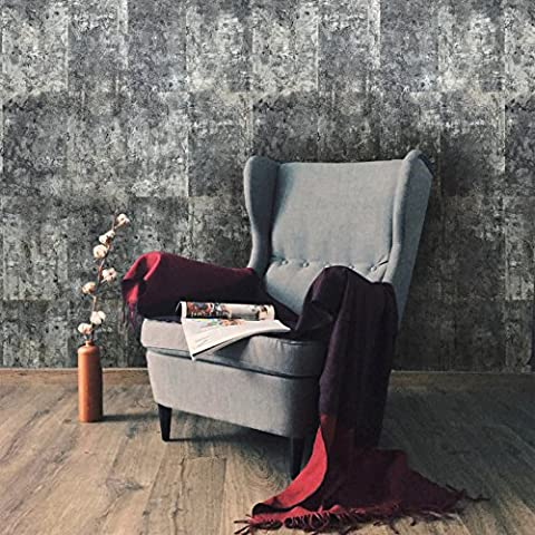 10m Slavyanski vinyl wallpaper rolls gray blue silver metallic modern rust rustic faux tiles stone malachite wall paper coverings textured pattern double roll wallcovering textures embossed (Washable Wallpaper)