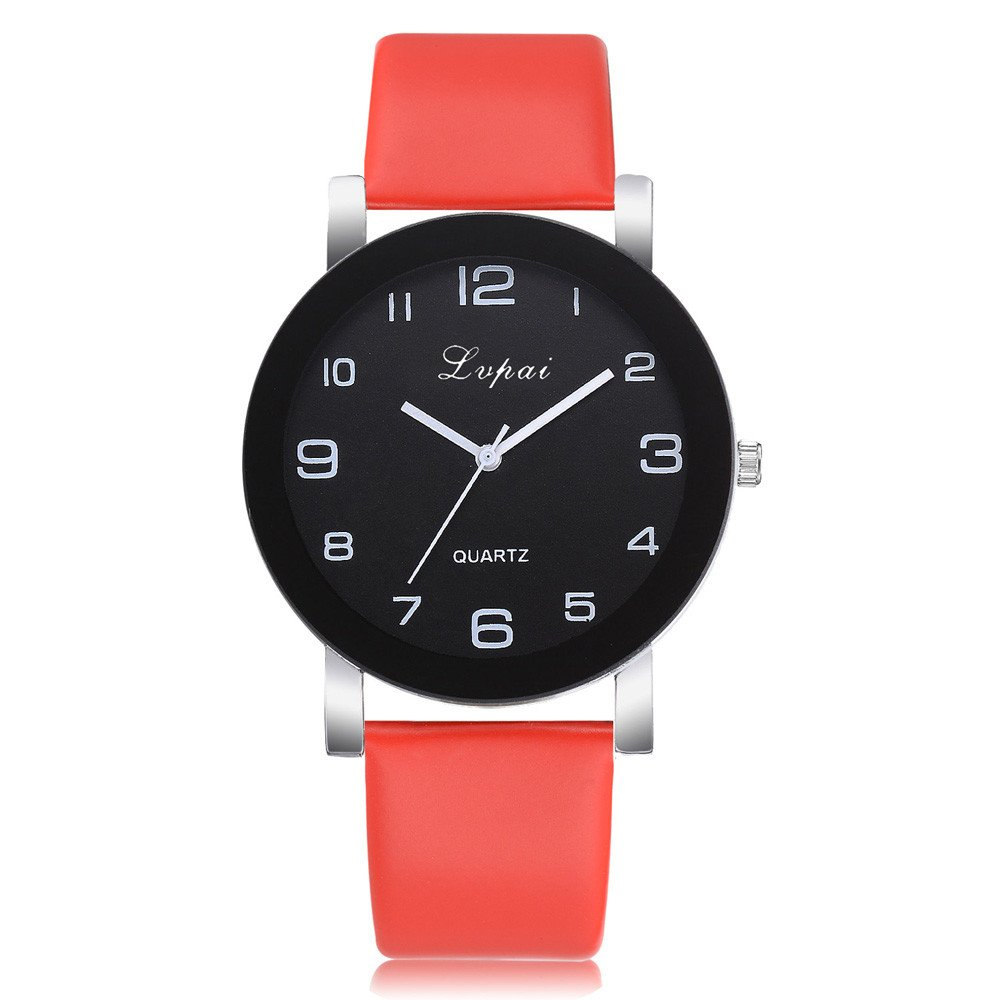 Bracelet Watches for Women,Women's Casual Quartz Leather Band Watch Analog Wrist Watch,Novelty Watches,Red