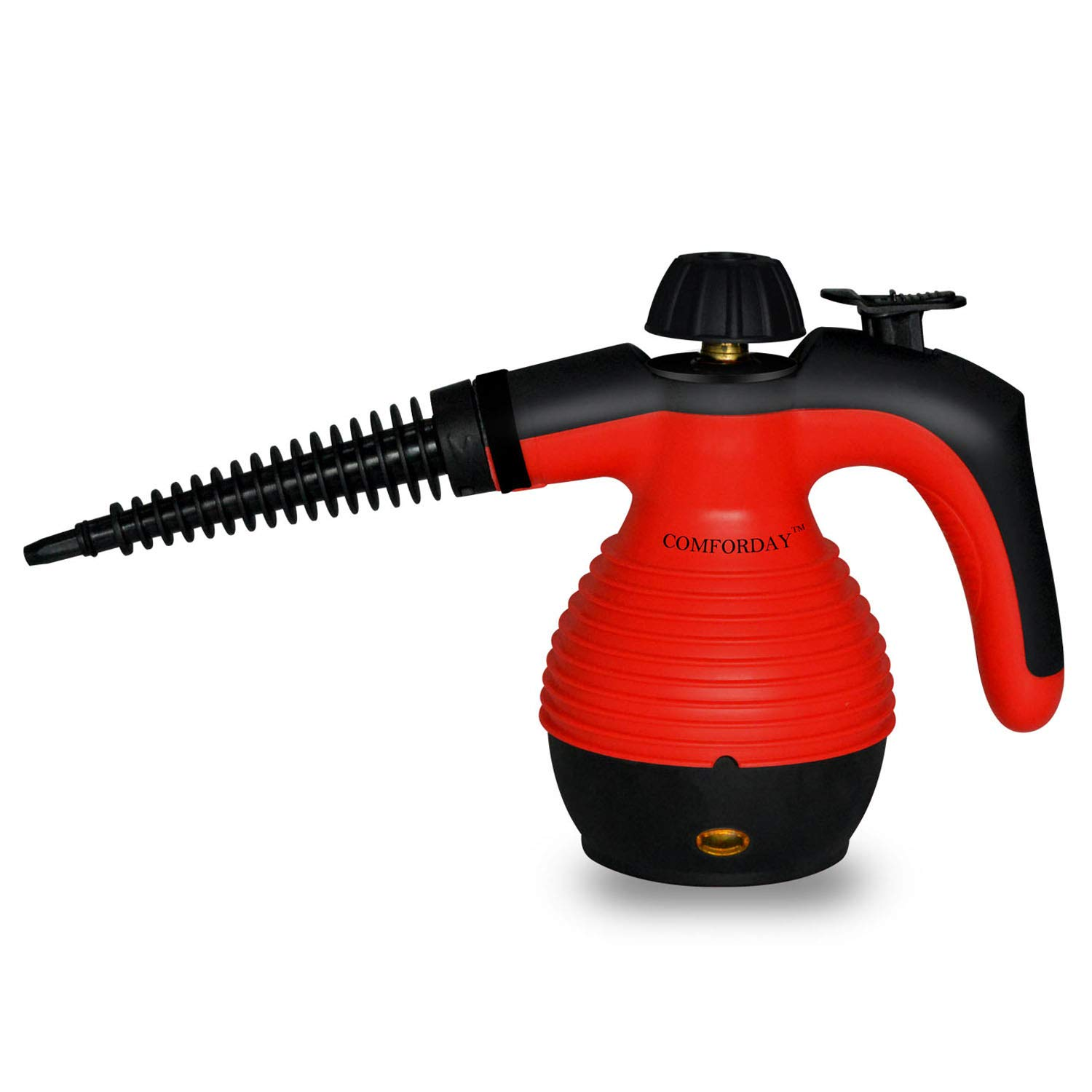 ALL IN ONE Comforday Handheld Steam Cleaner, HIGH PRESSURE Chemical Free Steamer for Bathroom, Kitchen, Surfaces, Floor, Carpet, Grout and more, BEST GERM KILLER and SANITIZER - Red