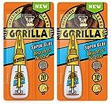 Gorilla Super Glue Brush & Nozzle, 10 g, Clear, (2 Pack)