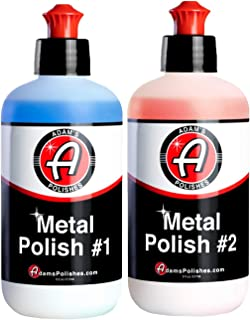 product image for Adam's Metal Polish - for Aluminum, Chrome, Stainless, Uncoated Metals & Other Auto Part Accessories - Polish #1 Restores Neglected Metals - Polish #2 Achieves Perfection (Metal Polish Combo)
