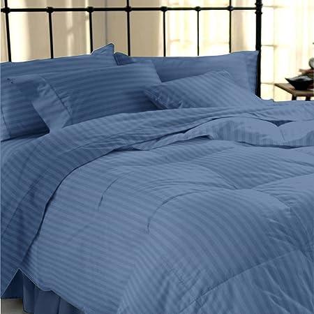 100/% Egyptian Cotton Satin Stripe 200 Thread Duvet Quilt Cover Sheet Pillow