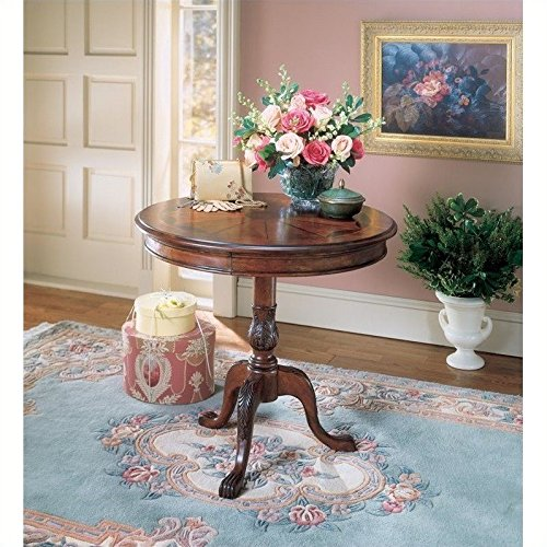 Pedestal Table w Cherry (Maple Round Accent Table)