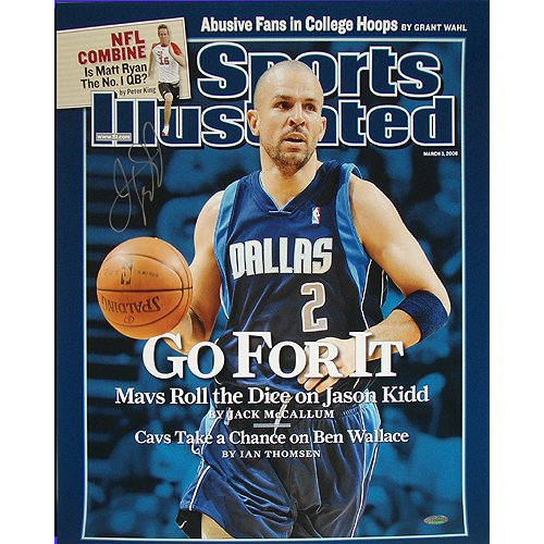 NBA New Jersey Nets Jason Kidd Mavericks ''Go For It Sports'' Illustrated Cover Photograph, 6x20-Inch
