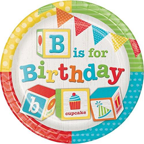 ABC Blocks Birthday Paper Plates, 24 ct ()