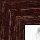 ArtToFrames 8x16 inch Walnut Stain on Red Oak Wood Picture Frame, 2WOM0066-80209-YWAL-8x16