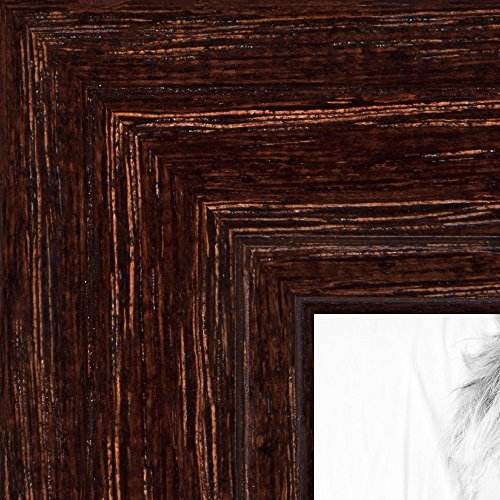 ArtToFrames 21x26 inch Walnut Stain on Red Oak Wood Picture Frame, 2WOM0066-80209-YWAL-21x26