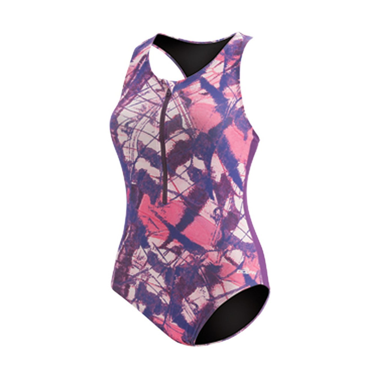 5828a63b156 Amazon.com: Dolfin Women's AQUASHAPE Zip-Front ONE-Piece Swimsuit: Clothing
