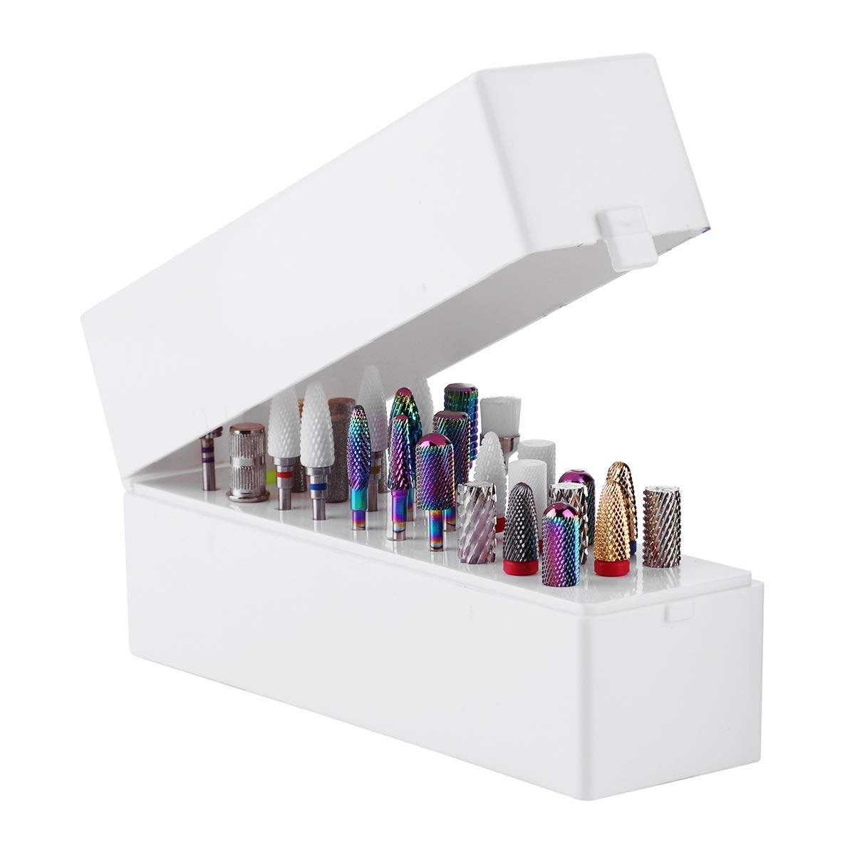 Makartt Nail Drill Bits Holder Dustproof Stand Displayer Organizer Container 30 Holes Manicure Tools (Not Inlcude Drill Bits) B-22: Beauty