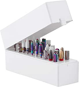 Makartt Nail Drill Bits Holder Dustproof Stand Displayer Organizer Container 30 Holes Manicure Tools (Not Inlcude Drill Bits) B-22