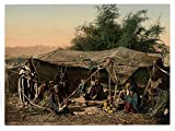 Historic Photos Bedouin tents and occupants, Holy Land