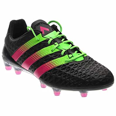 2af9e763b4b adidas Men s ACE 16.1 FG Black Shock Green Shock Pink Athletic Shoe