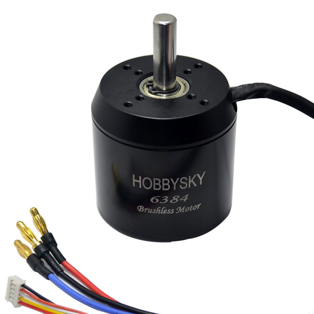 Hobbysky 6384 190KV Brushless Outrunner Motor Belt Drive Motor Sensored Motor with Closed Cover for DIY Electric Skateboard Electric Bike Mini Scooter Surfboard
