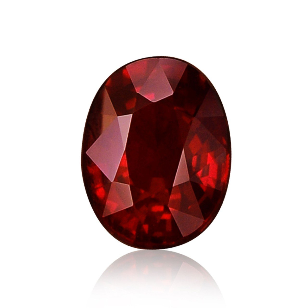 1.27Cts Pigeon Blood Ruby Loose Gemstone Oval Shape GRS Certificate